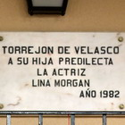 Lina Morgan. Placa